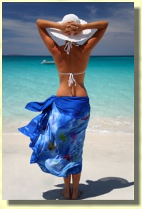 sarong, beach wear, beach wedding dress